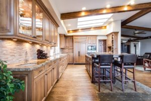 stunning new luxury kitchen in a triangle parade of homes house