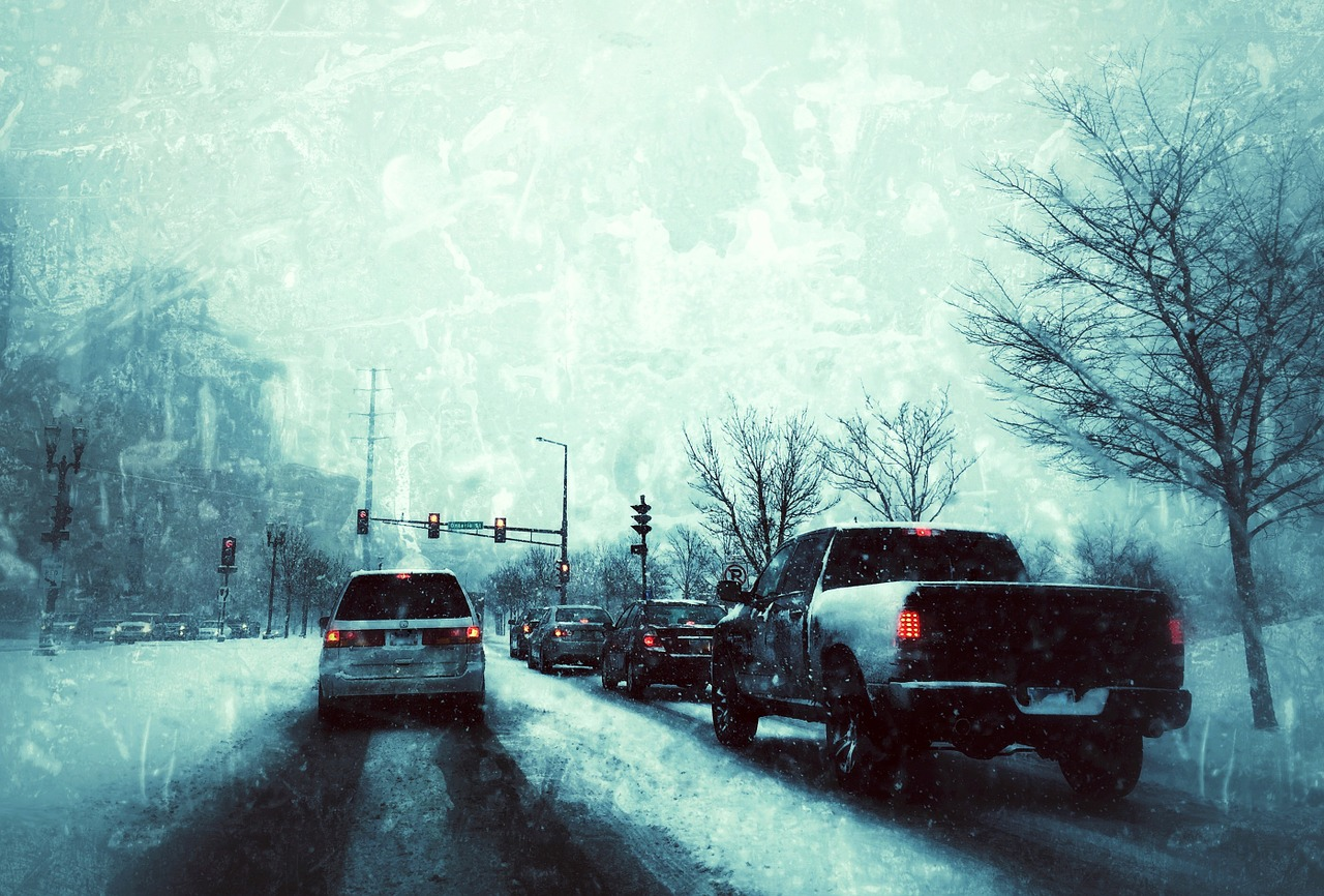 leave plenty of room between cars to stay safe in winter weather