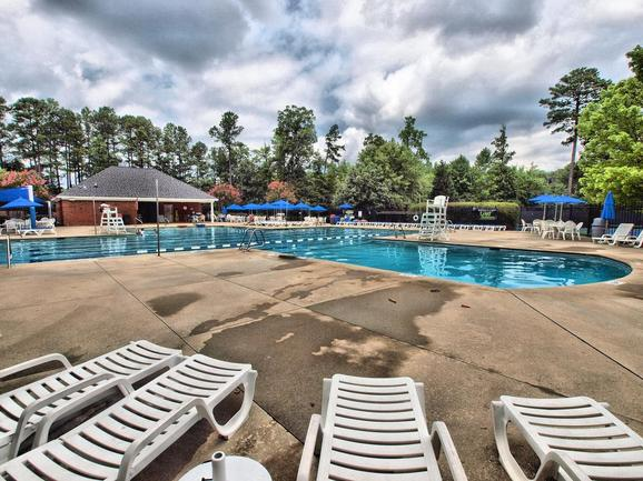 pool and pool deck of abbington apex nc