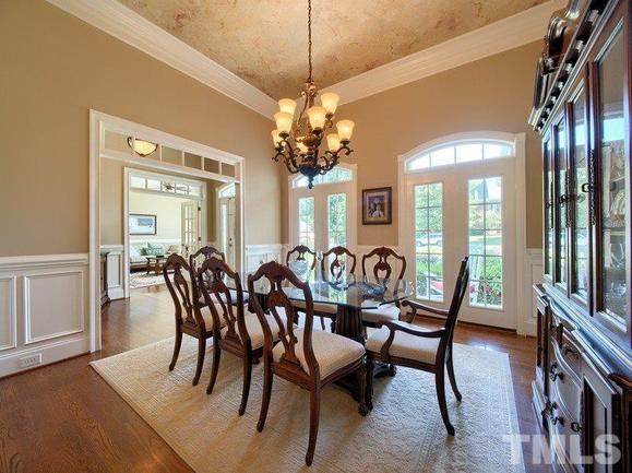 formal dining room of 3504 foy glen, an apex home for sale