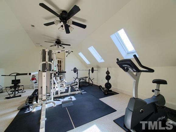 home gym of 3504 foy glen in apex
