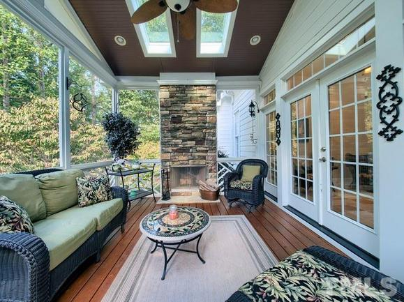 scenic back porch of 3504 foy glen, an apex home for sale