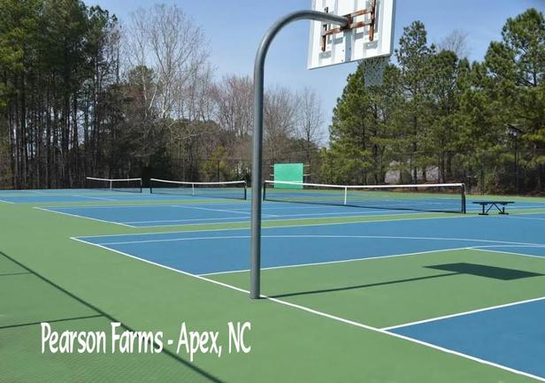 tennis courts at pearson farms, a best apex neighborhood