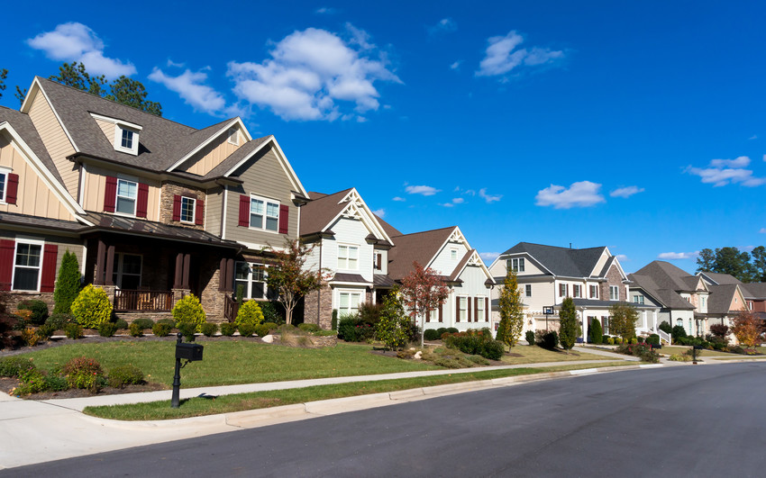 scenic neighborhood and homes in knightdale