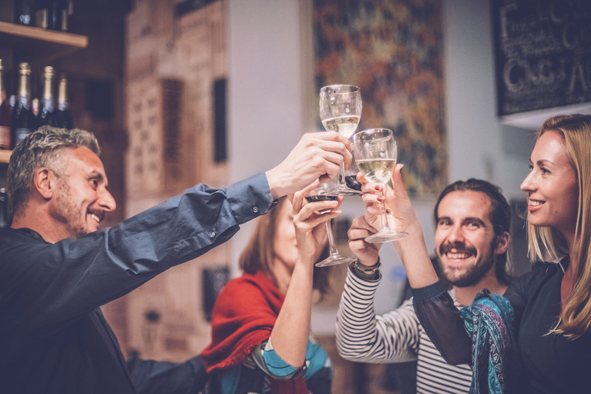 toasting to buy a home in knightdale