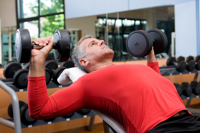 a fitness center is one of many 55+ active adult communities