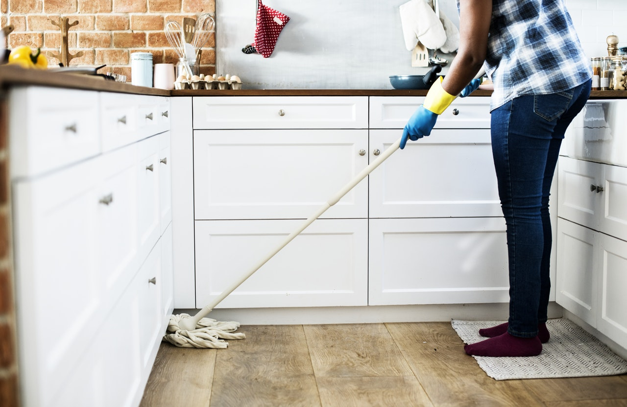 mopping and cleaning when selling a home in the triangle