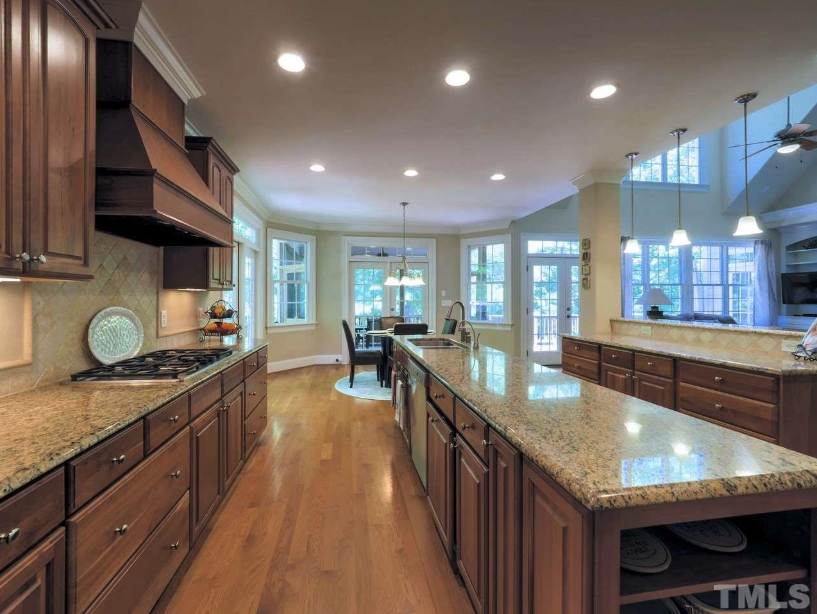 beautiful luxury kitchen in a chapel hill golf course home