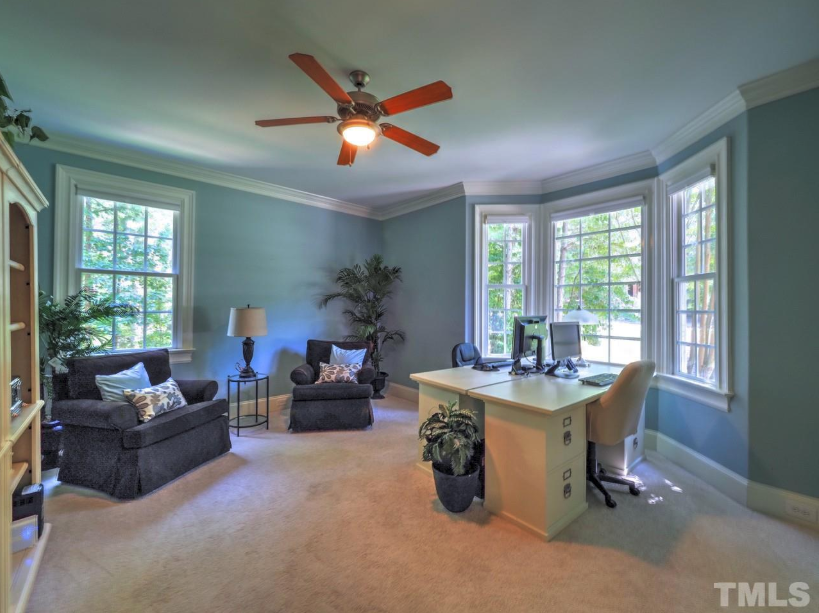 lovely office in a chapel hill golf home