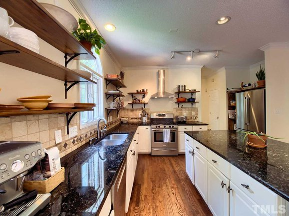 beautiful gourmet kitchen at 204 red field street in cary, nc